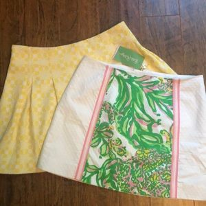 Two Lilly Pulitzer Skirts